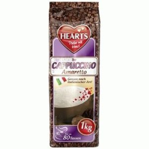 Hearts Cappuccino Amaretto – растворимый каппучино со вкусом Амаретто